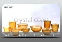 wholesale amber frosted garden candle votive home decoration glass candle holder
