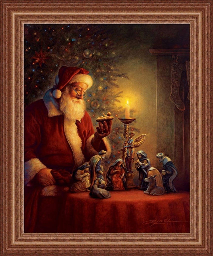 get quotations the spirit of christmas by greg olsen nativity scene 15x19 framed art print picture