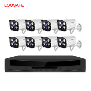 Low Cost DVR 1080P Full Hd Night Vision CCTV Camera Home Security Alarm System 8CH POE NVR System