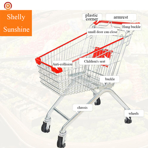 Reasonable Price Supermarket Supplies Modern Shopping Trolley