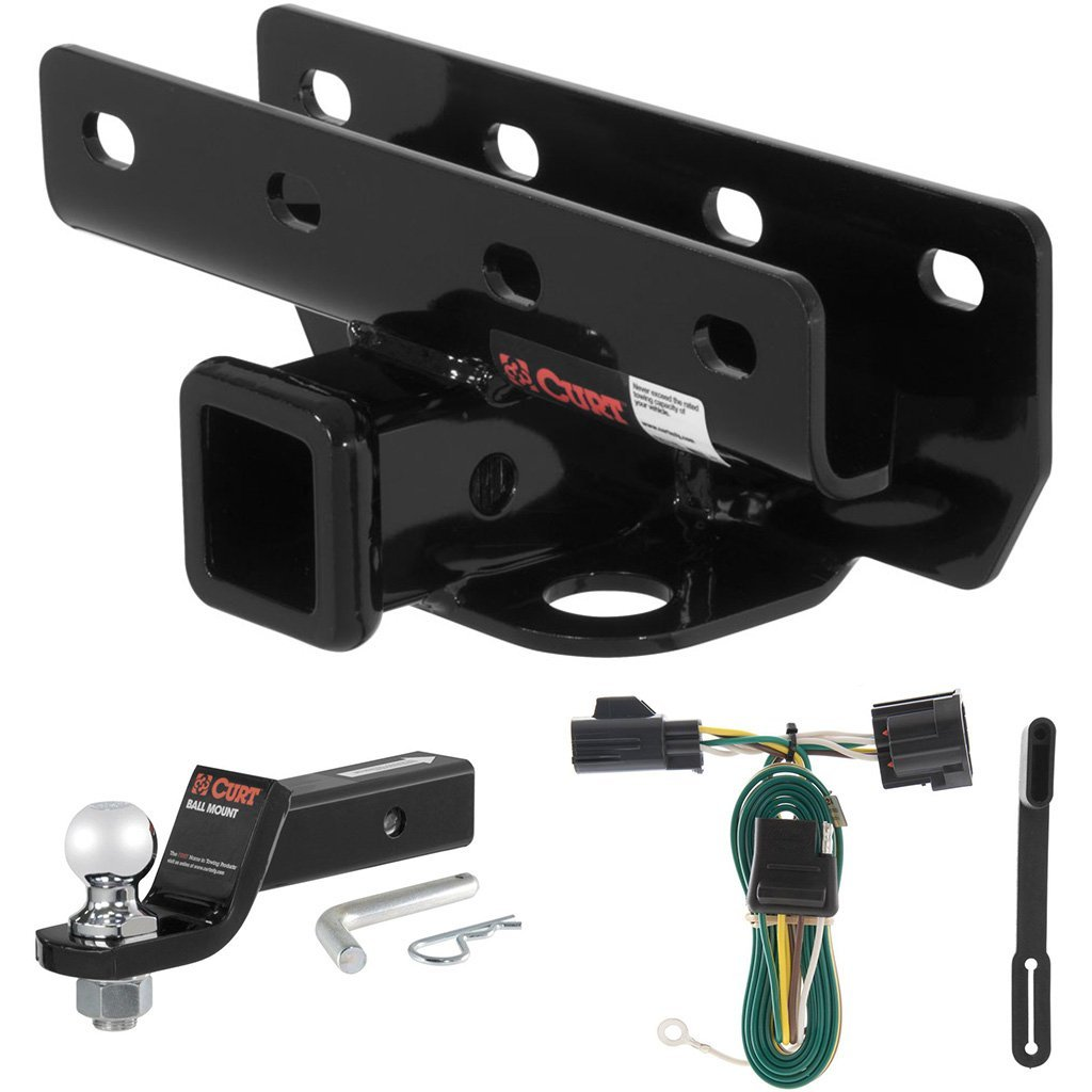 "CURT Class 3 Trailer Hitch Tow Package with 2"" Ball for 2007-2016 Jeep Wrangler"