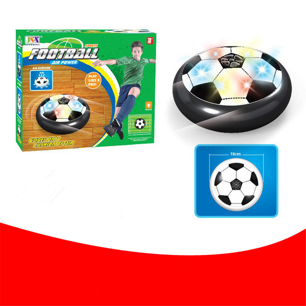 New Novelty Indoor LED Light 18 cm Suspended Air Cushion Football Sports Mini Soccer Game Toy