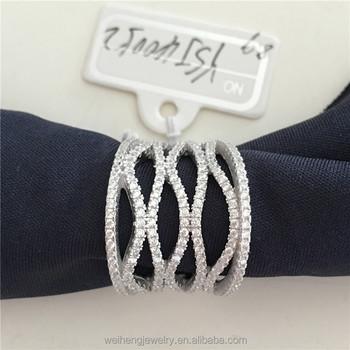 9 gram gaudy costume jewelry design 925 sterling silver jewellery cubic zircon pakistani wedding rings & 9 Gram Gaudy Costume Jewelry Design 925 Sterling Silver Jewellery ...