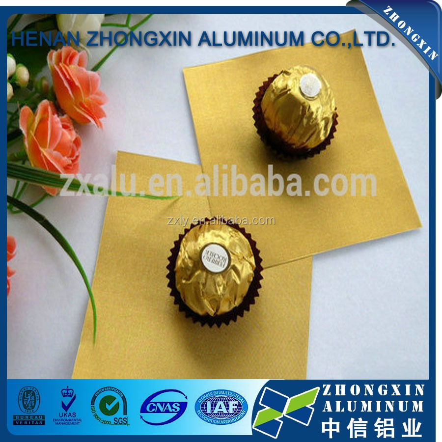 Various Color Available Printed Alumnium Foil 8011- O For Chocolate, Candy Wrapping