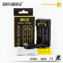Basen BO2 Multifunctional Lithium Battery Charger for 10440 14500 16340 18350 18650 26650 20700 portable Quick USB Charger