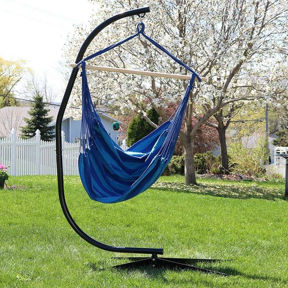 Portable colorful 210T nylon parachute hammock with stand