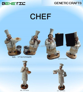 RESTAURANT WELCOME BOARD KITCHEN DECORATIONS FAT CHEF IN UNIFORM STATUE IN DISH STUFF HOLDER DIFFERENT DESIGN RESIN FIGURINES