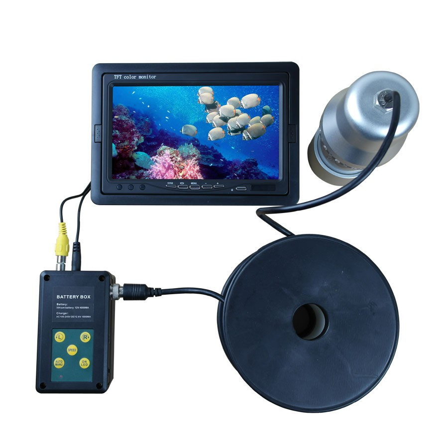 360 degree Visual fishing system 50m waterproof underwater camera with DVR
