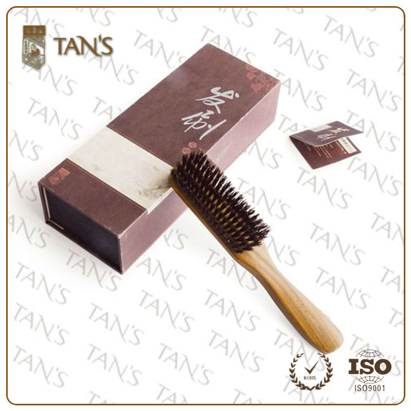 Fashionabl Boar Bristle Beard Brush Wood Palm Brush ,Curve Hair Brush