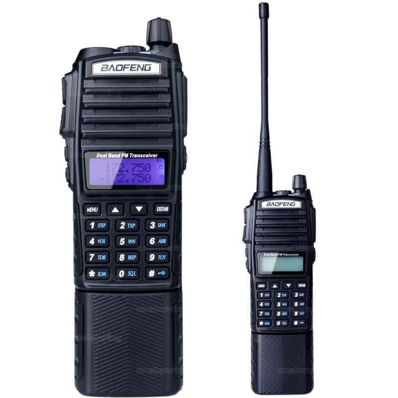 10W BAOFENG UV-82 UHF/VHF dual band handheld walkie talkie with high power and battery radio