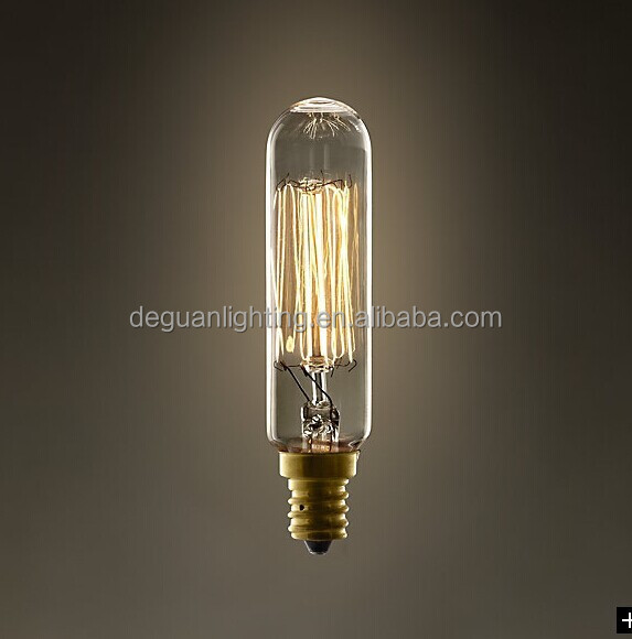 E12 Type T Tubular Filament Bulb Clear Vintage Antique Light Bulb ...