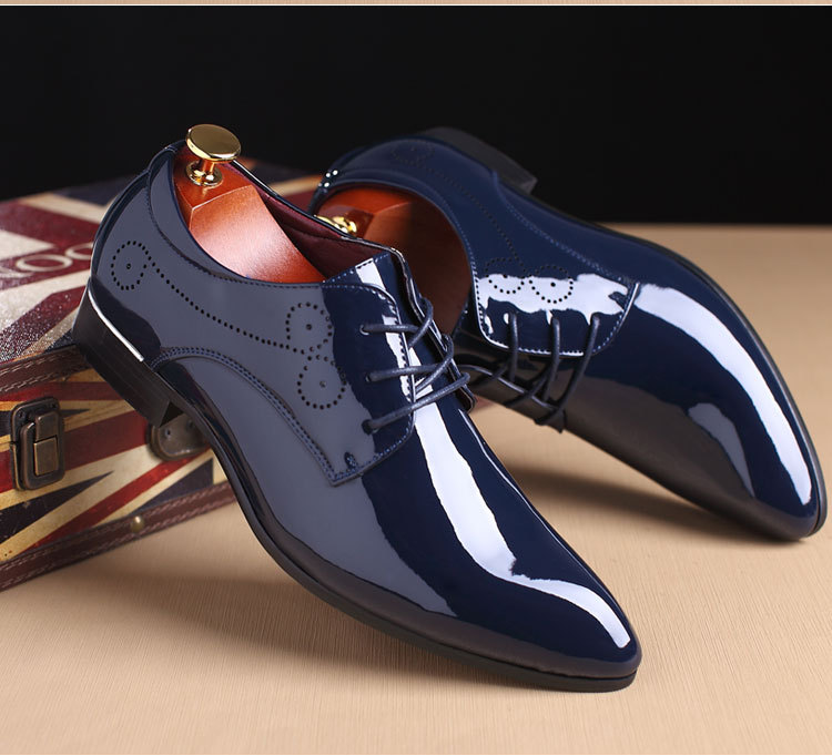 SS00012 Amazon hot selling white formal dress shoes for men 2019 wholesale casual leather lace shoes