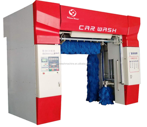 Commercial five brushes fully automatic rollover car wash machine With spray, foam and wax, dry systems C7