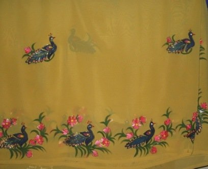 Sarees With Fabric Painting