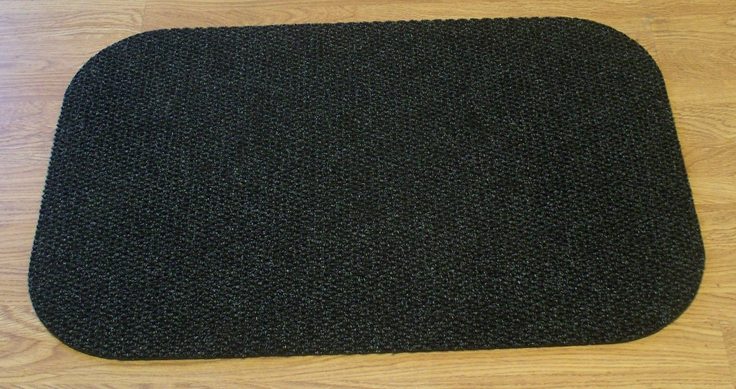 """Landing Mat for Essential Carpet Stair Treads - Style: Berber - Color: Charcoal - Size: 24"""" x 36"""""""