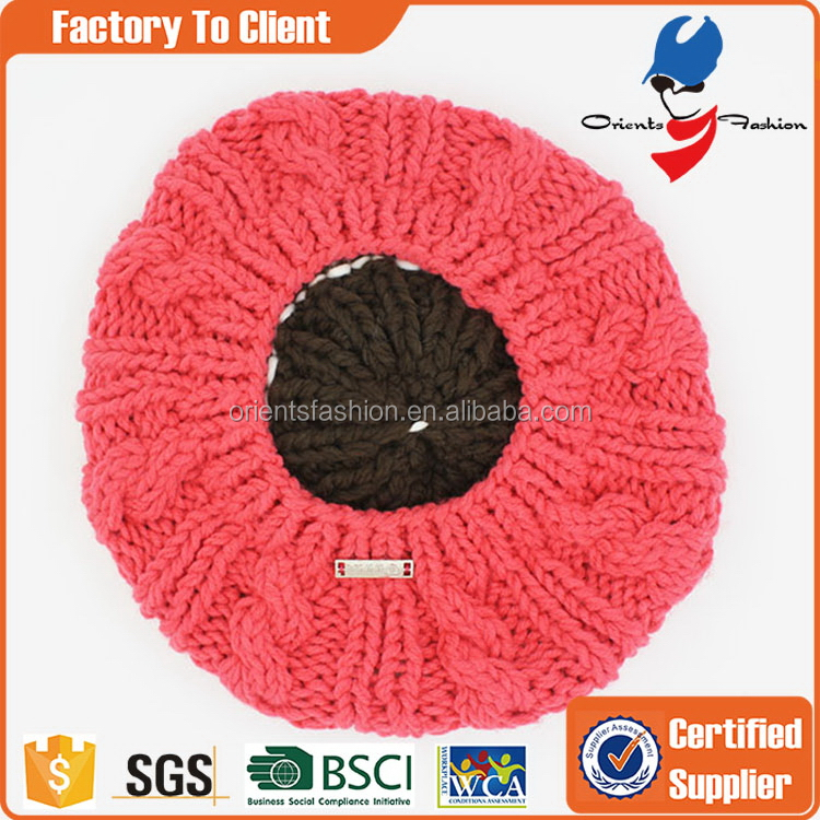 Economic Crazy Selling knitted fabric baby cap
