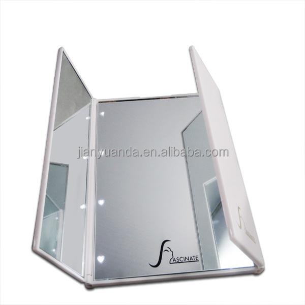 faltbare drei seiten tisch kosmetikspiegel kleine kompakte benutzerdefinierte spiegel. Black Bedroom Furniture Sets. Home Design Ideas