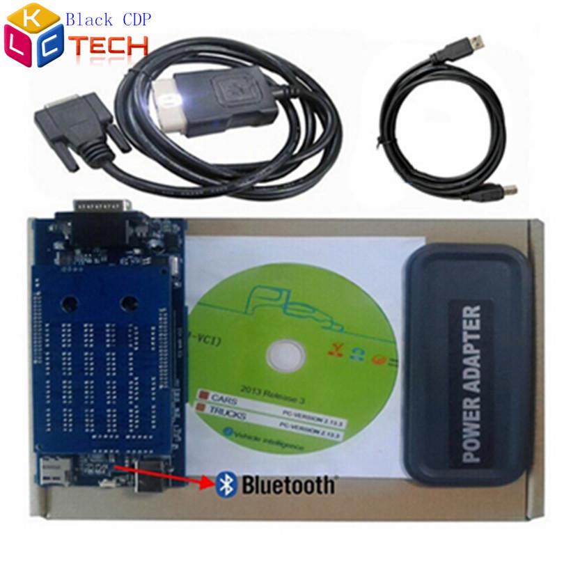 Большие скидки черный CDP про DS150E с Bluetooth диагностический инструмент сканер 2014 R3 / R2 бесплатная активированный программного обеспечения CDP плюс