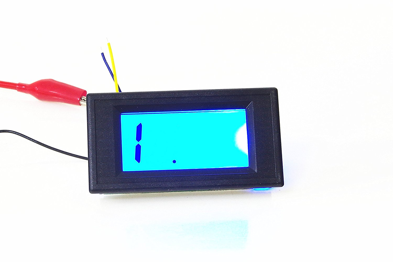 KNACRO 3 1/2 Digits AC/DC 8-12V Digital LCD Resistance Meter Ohmmeter Ohm Gauge Panel Impedance Tester Detector (20K Ohm)