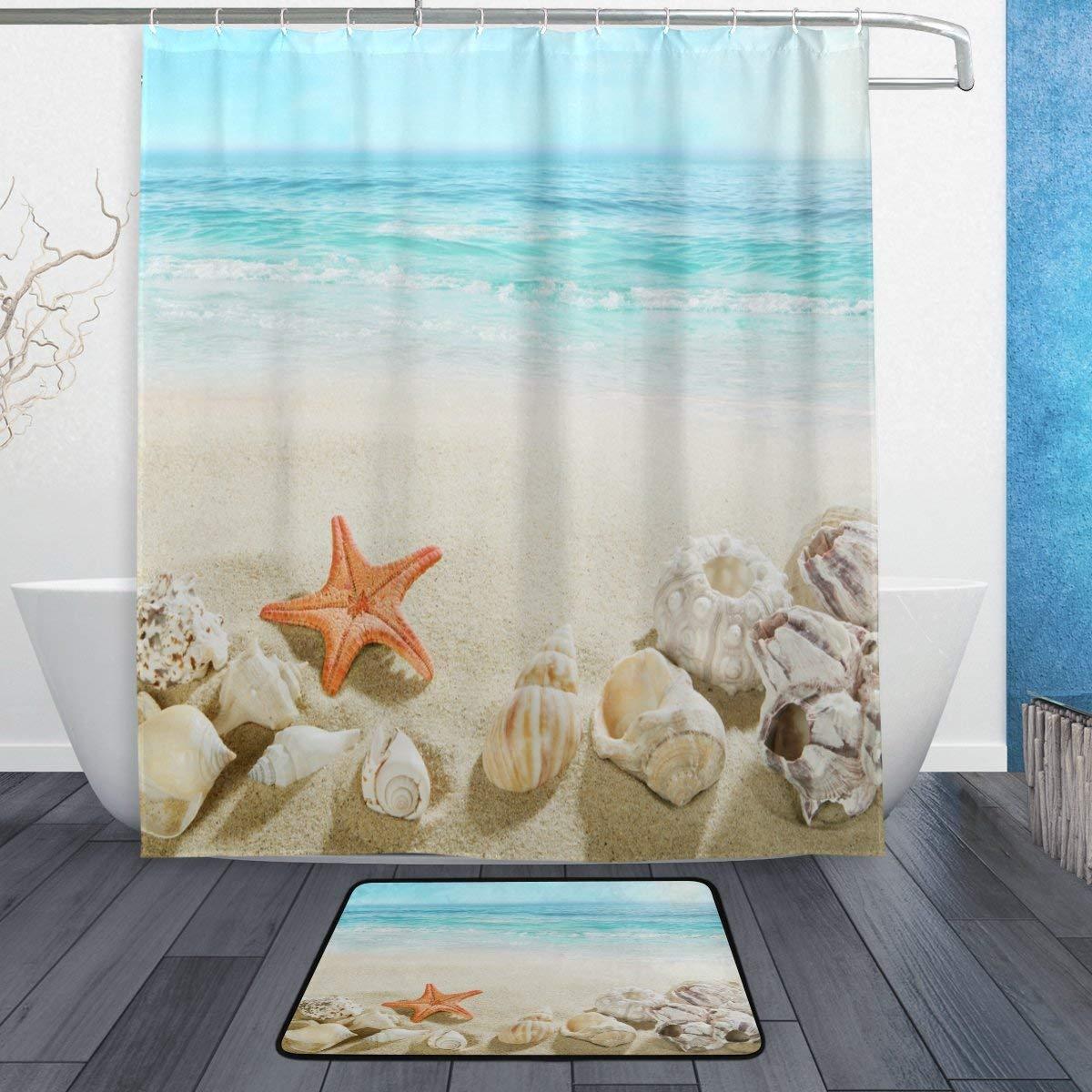 Buy Alaza Set Of 2 Beach Ocean Sea Theme 60 X 72 Inches