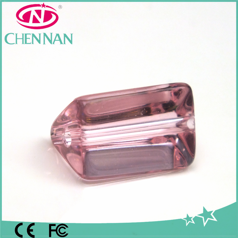 pujiang latest design unique Natural crystal beads pink coral cylinder beads for jewelry making