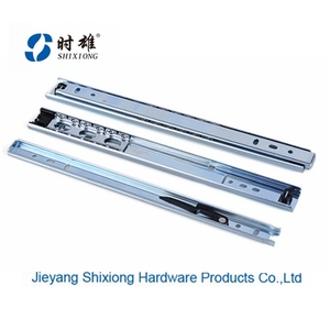kitchen cabinet ball bearing drawer slide telescopic channel