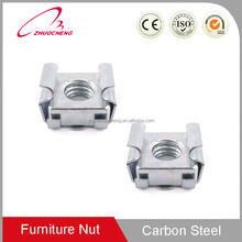 China Factory Customized zinc plated carbon steel auto spring clip speed square M4 cage nut for furniture