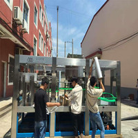 China automatic water washing filling capping machine 3 in 1 unit