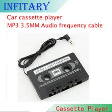 1pcs New Audio Car Cassette Tape Adapter Converter 3.5 MM For Iphone Ipod MP3 AUX CD Wholesale HA10670