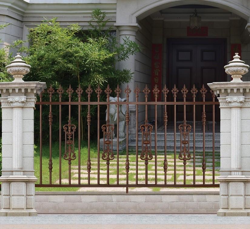 Latest Modern Cast Aluminum Fence/decorative Metal Garden Fence/philippines  Gates And Fences