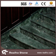 Polished Taiwan Sea Green Marble Stairs Tile