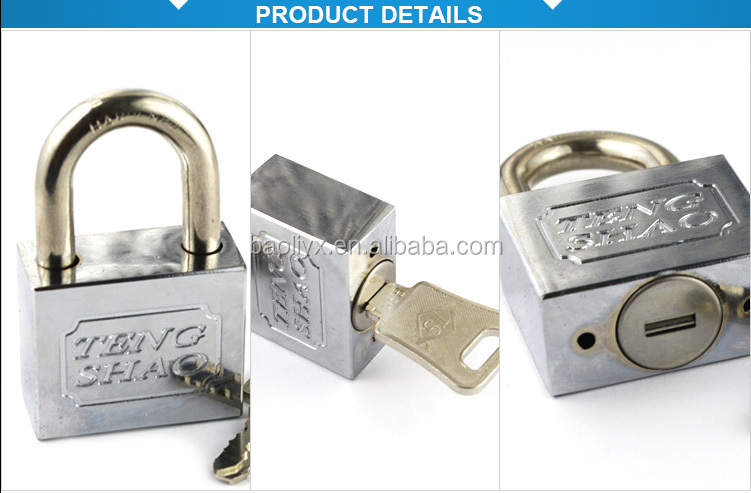 China wholesale security BLEE padlock with two door keys padlock switch for game machine