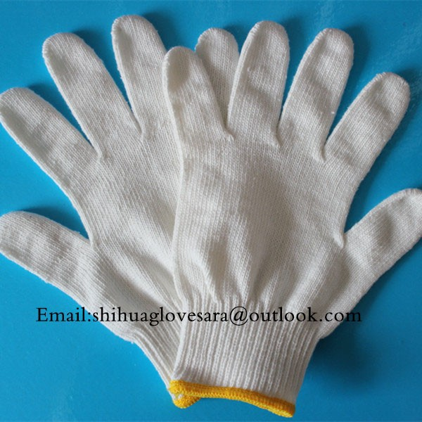 organic white cotton hand gloves for labor safety