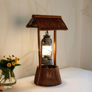 Vintage Restaurant Natural Bamboo Fashion Design Table Lamp ...