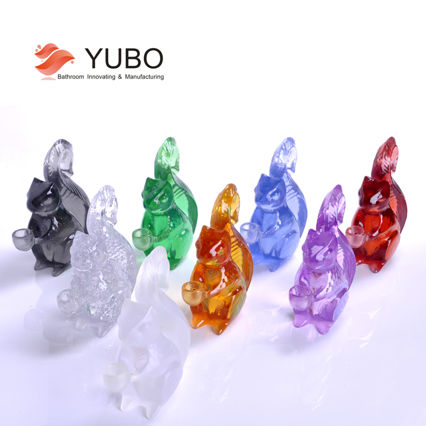Transparent resin colorful suqirrel figurine