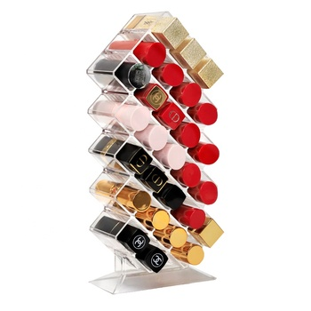 Factory new Fish type Makeup Cosmetic Organizer Display Clear Acrylic Lipstick Holder lipstick display rack