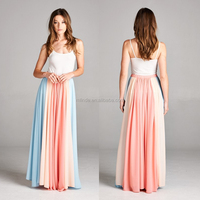 Fully Lined Bohemian Maxi Skirt Long Fitted Colored Beautiful Skirts for Elegant Women Wholesale CUSTOM