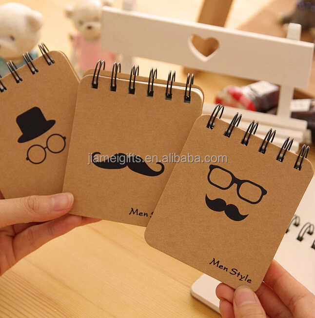 New arrival A6 size kraft paper blank notebook,spiral binding wholesale pocket notebook,80g FSC paper recycled notebook supplier