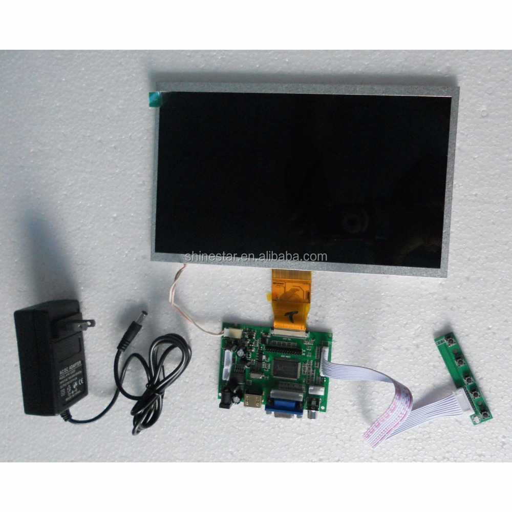 diy rahmenlose 10 zoll lcd monitor mit vga unterst tzung. Black Bedroom Furniture Sets. Home Design Ideas