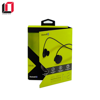 China factory book shape  custom printed bluetooth earphone boxes packing headphones packaging with magnet