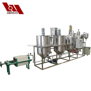Dephosphorization degumming big scale palm oil refinery plant price/refined machine canola oil