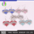 IMG 1550 Yiwu Huilin Jewelry wholesale colorful crystal WRESTLING heart pendant wholesale crystal stud earrings