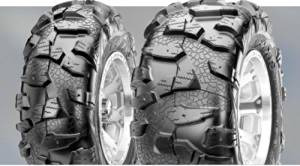 Maxxis Cheng Shin Snow Beast Tire - Rear - 25x10R 12 , Position: Rear, Rim Size: 12, Tire Application: Mud/Snow, Tire Size: 25x10x12, Tire Type: ATV/UTV, Tire Ply: 6 TM00774100 by Maxxis
