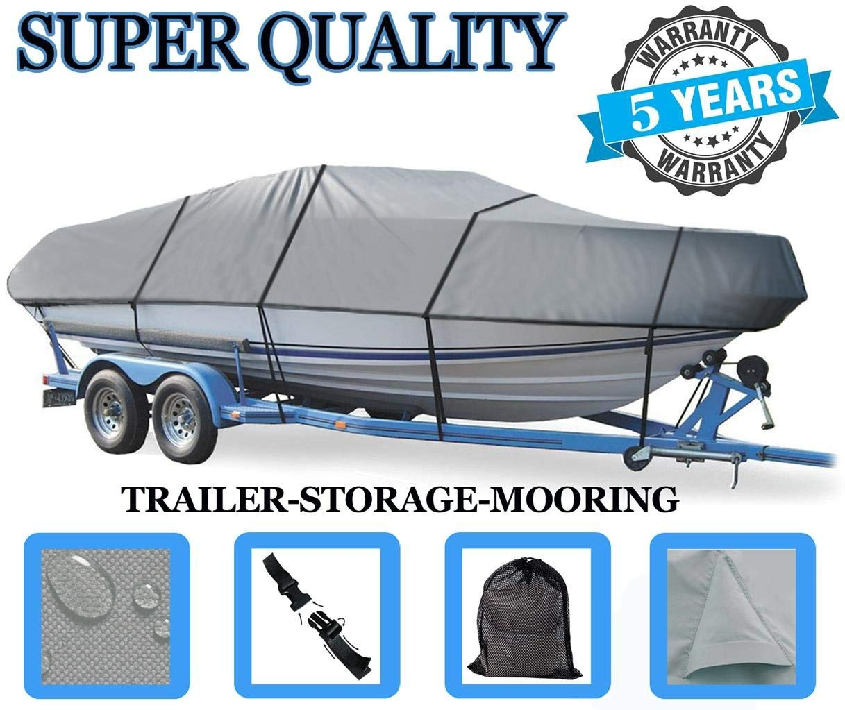 SBU BOAT COVER FOR GENERATION III G3 SPORTSMAN 17 2015 Heavy-Duty