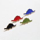 Metal Enamel Little Dinosaur Lapel Pins dragon Brooch Custom For Students Girls Scarf Clothing Accessories Souvenirs Gift