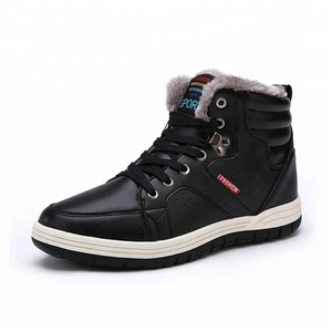 Hot sell wish amazon winter boots autumn stocks fashion warm bulk work snow shoes men boots
