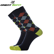 Wholesale Fashion Happy Socks Custom Colorful Cotton Crew Mens Business Dress Socks