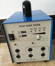 Portable 5w solar power system with phone charger portable solar kits