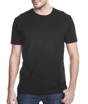 Black T-shirt - Blank Or Your Design - Ring-spun Cotton With ...