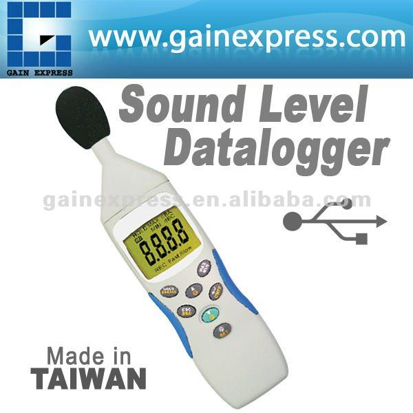 USB-interface digitale data logging geluidsniveaumeter 30~130db assortiment gemaakt in taiwan